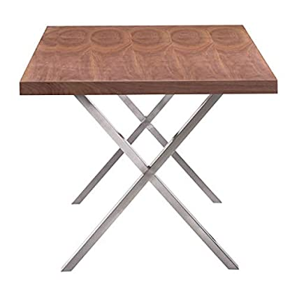Amazon Com Homeroots Wood Veneer Mdf Renmen Dining Table