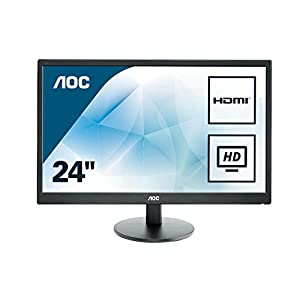 AOC e2470swhe 23.6-Inch TN (2) HDMI VGA (1920 x 1080), 5ms, VESA, Widescreen Monitor