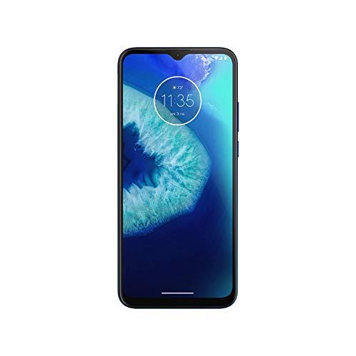 "Moto G8 Power Lite (64GB,4GB) 6.5"", 5000 mAh Battery, Dual SIM GSM Unlocked, Global 4G LTE International Model (T-Mobile, AT&T, Metro, Cricket) XT2055-2 (64GB SD + Case Bundle, Navy Blue)"