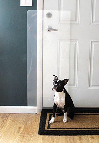 the Original CLAWGUARD - The Ultimate Door Scratch Shield - Door and Door Frame Protection