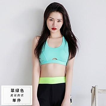 Qosow Sujetadores Deportivos para Mujer Sujetador Deportivo Ropa Interior Fitness Transpirable Secado Rápido Yoga Sujetador Deportivo