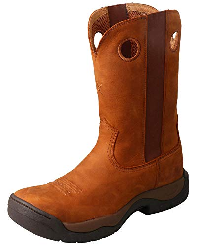 Twisted X Men's Buckle All Around Boot Round Toe Tan 7 D