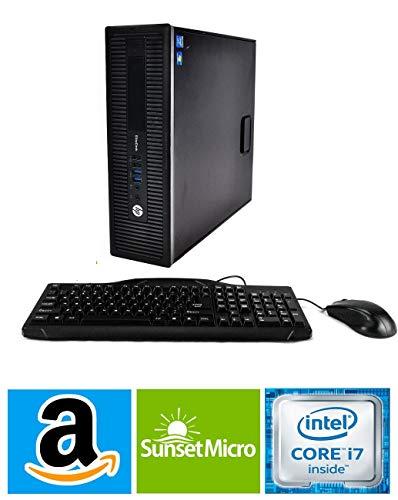 Hp Elitedesk 800 G1 Sff Business High Performance Desktop Computer Pc Intel Quad Core I7 4770 3 4g 12g Ram Ddr3 240g Ssd 2t Hdd Dvd Hdmi Wifi Bluetooth 4 0 W10p64 Renewed