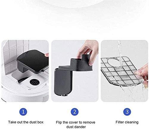 Art Jian Aspirateur Robot, Robot de Balayage Automatique Intelligent de Nettoyage de la poussière de Sol aspirateur Rechargeable USB pour Tapis de Poils d\'animaux