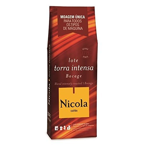 NICOLA Café - BOCAGE Tostado Intenso Café Molido (café molido) - 6 paquetes x 250 gramos: Amazon.es: Alimentación y bebidas