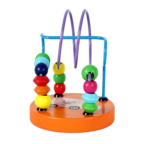 Chusea Child Activity Hammer Toys Early Childhood Education Toys Wooden Mini Beaded Beads Building Blocks Toy(Car) by Chusea