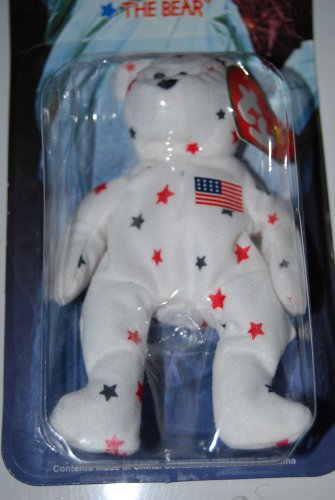 839ce26608f Image Unavailable. Image not available for. Color  Ty McDonald s 1999  Teenie Beanie Babies Glory the Bear