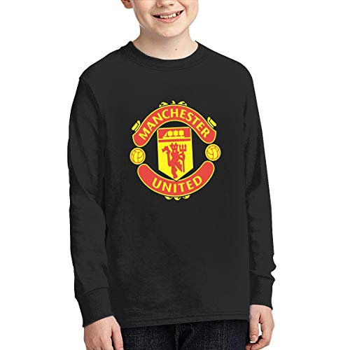Manchester United Fashion - Manchester United Youth Teen Long Sleeve T-Shirt Boys,Girl Black L
