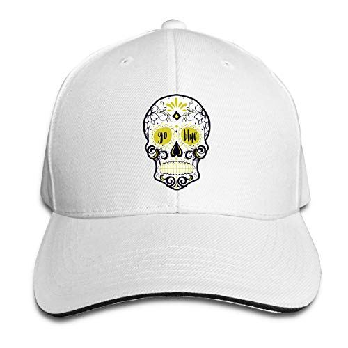 chigan Sugar Skull Cotton Lightweight Adjustable Peaked Baseball Cap Sandwich Hat Men Women ()