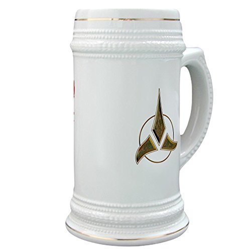 Lionkin8 Klingon Blood Wine Stein Beer Stein, 22 oz. Ceramic Beer Mug with Gold Trim