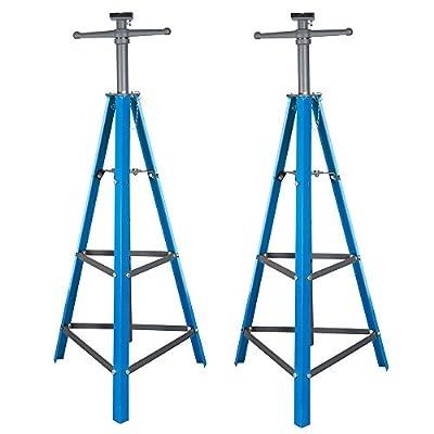 "CR 2 Ton Tri-Pod Under Hoist Stand 53"" - 80"" Support Hoist Lift Floor Car Stand x2"