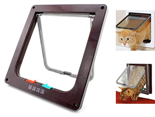 Xiaoyu Interior 4 Ways Locking Cat Dog Door & Flaps