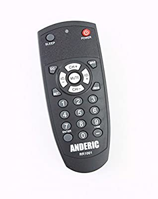 Anderic RR1001 Simple TV 1-Device Universal Remote Control (Pre-Programmed for LG and Vizio TV's) Programmable Codes for All Major Brands Samsung, Sony, Toshiba, Sylvania, Hisense, Magnavox, Emerson