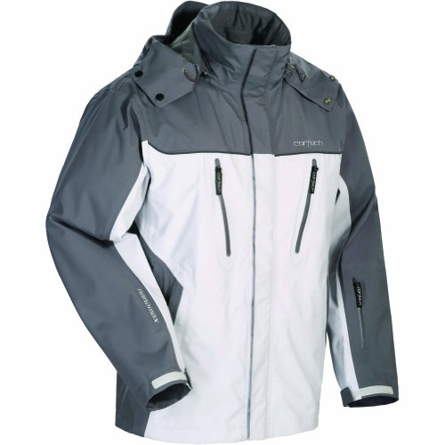 Cortech Brayker Men's Snow Snowmobile Jacket - Silver/Gunmetal / Large (Snow Amo Jacket)