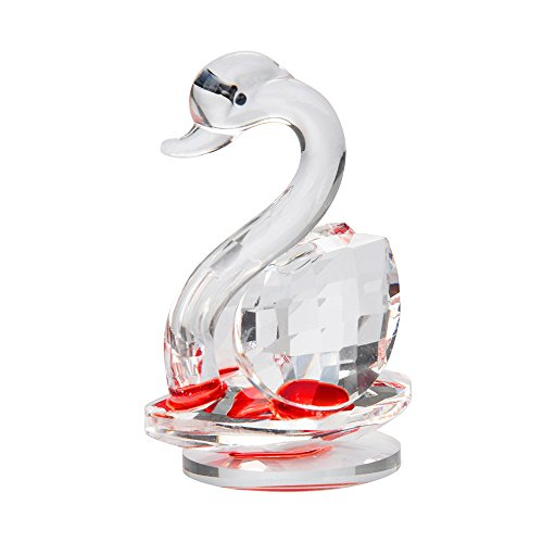(NszzJixo9 Crystal Swan-Wedding Decor, Paperweight Figurine Gift, Crafts Home Decor,Glass Swan Paperweight-Collection Cut Glass Decorative Statue Animal Collection (C) )
