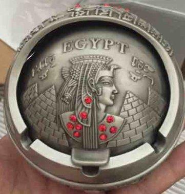 SIS Egypt style Ashtray,Egypt pyramid and EGYPT QUEEN,home decor,Christmas gift- Zinc Alloy