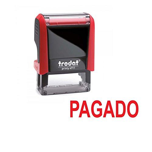 Sello entintado automatico PAGADO – TRODAT Printy 4911 – Tinta roja ultima generac