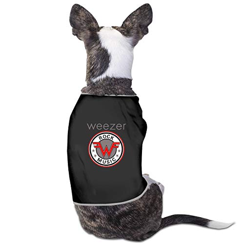 Zwyhyyysw Cutie Pet Dog Clothes Dog Shirts Weezer Rock Music 100% Polyester Comfortable and Breathable for Small Medium Large Pets