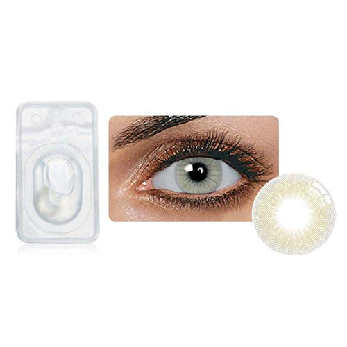 Multi-Color Attractive Fashion Cosplay Party Eyes Lenses A Pair with Case-(US Stock) - Quartz ()
