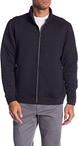 Tommy Bahama Quilt This City Zip Up Jacket, Black