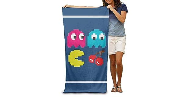 xcvgcxcvasda Pacman Pixel Toalla de Piscina para Adultos, Ligera y Absorbente, 31 x 51 Pulgadas, diseño de patrón único: Amazon.es: Hogar