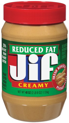 Creamy Spread - Jif Creamy Reduced Fat Peanut Butter Spread, 40 Ounce (Pack of 8)