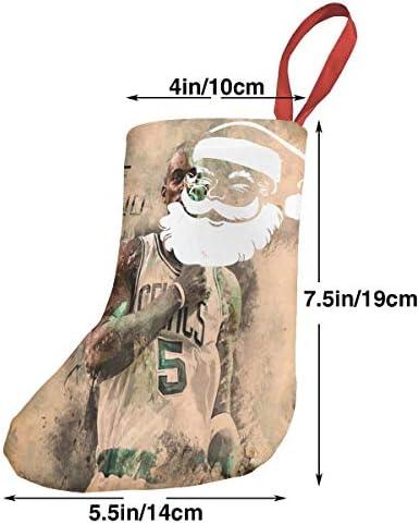 クリスマスの日の靴下 (ソックス3個)クリスマスデコレーションソックス ケビンガーネットKevin Garnett クリスマス、ハロウィン 家庭用、ショッピングモール用、お祝いの雰囲気を加える 人気を高める、販売、プロモーション、年次式