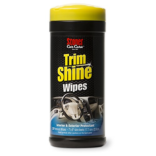 Stoner Car Care 90034 Trim Shine Protectant Wipes - 28-Count