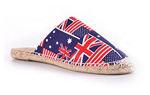 Slip On Slipper Wicking Wicking Sandalo Sandalo Suola In Gomma Scarpe Da Interno O Esterno, Misura Uomo Bandiera
