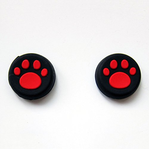 Vivi Audio® Thumb Stick Grips Cap Cover Joystick Thumbsticks Caps For PS4 XBOX ONE XBOX 360 PS3 PS2 Red Cat Dog Paw Review