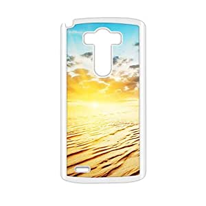 Personalized protective cell phone case for LG G3,glam sunrise desert design