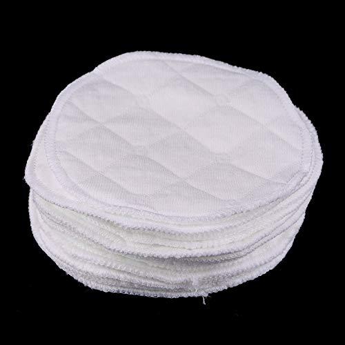 12 unids Reutilizable Senos de lactancia Almohadillas Lavable Absorbente Suave Amamantamiento