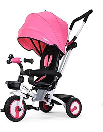 Fascol 4 in 1 Childrens Folding Tricycle for 6 Months to 5 Years Foldable 3  Wheel ae814a8e73