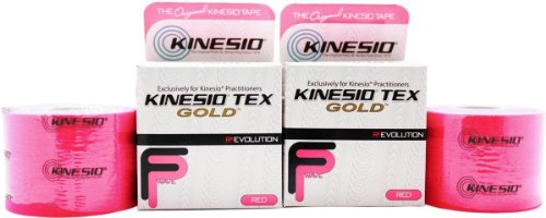 Kinesio Tex Gold FP (FingerPrint) Tape - Red - 2'' x 16.4' by Kinesio