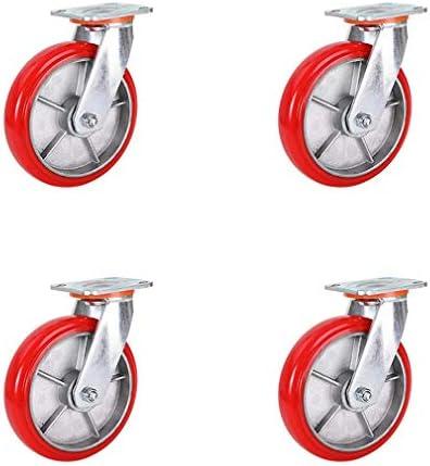 4つの足車の車輪の頑丈な軸受け720KG足車の旋回装置の車輪の家具のトロリーテーブルのためのブレーキなしの厚いナイロン足車