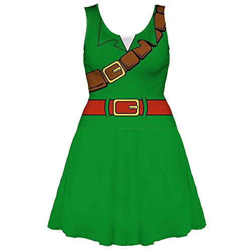 Legend Of Zelda Skyward Sword Costume (Nintendo The Legend of Zelda Ocarina of Time Link Costume Dress (Medium))