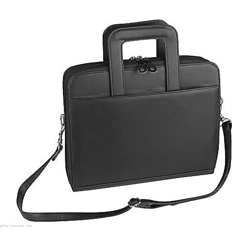 37f2918e3b3a ImpecGear Briefcase Padfolio 3- Ring Binder, File Divider Organizer ...