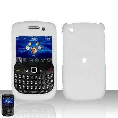 Importer520 Rubberized Snap-On Hard Skin Protector Case Cover for For (T-Mobile) Blackberry Curve 8520/8530 - White ()