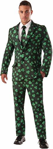 Forum Novelties Men's Shamrock Suit and Tie Xl Costume, Green, X-Large