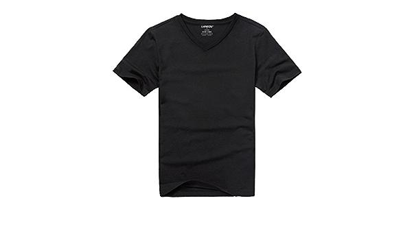 HM. La Camiseta Blanca De Manga Corta con Cuello En V De Los ...