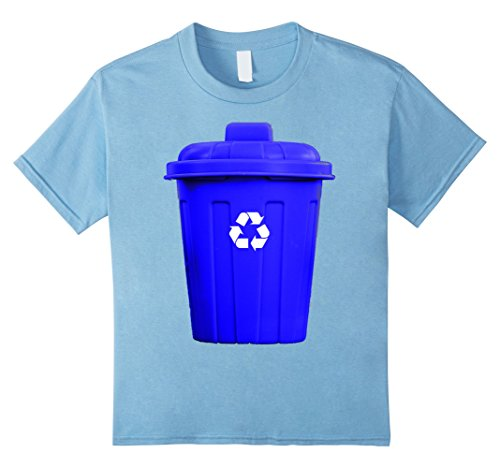 Kids Recycling Can Funny Hilarious Halloween Costume T-Shirt 8 Baby Blue
