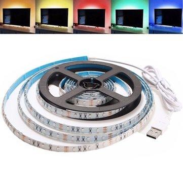 Led Strip Lights - 2m Waterproof Usb Smd3528 Tv Background Computer Led Strip Tape Flexible Light Dc5v - Lights Strip Computer Case Backlighting Lighting Blue Light Waterproof Background - 1PCs