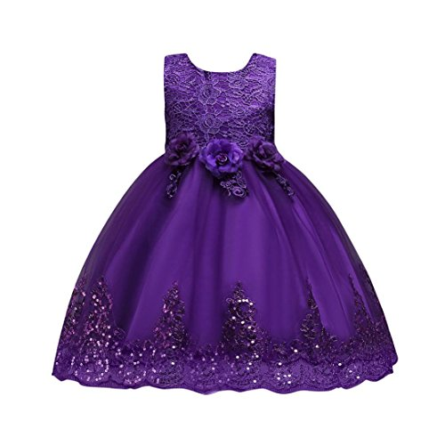 SMALLE◕‿◕ Clearance,Floral Baby Girl Princess Bridesmaid Pageant Gown Birthday Party Wedding Dress ()