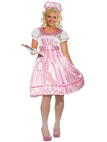 (Forum Novelties 80926 Classic Candy Striper, Multi, Plus, One)