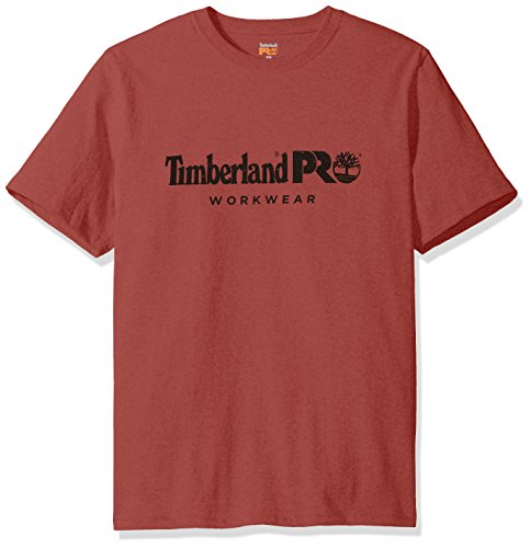 Timberland PRO Men's Cotton Core Short-Sleeve T-Shirt, Red Oxide, Large from Timberland PRO