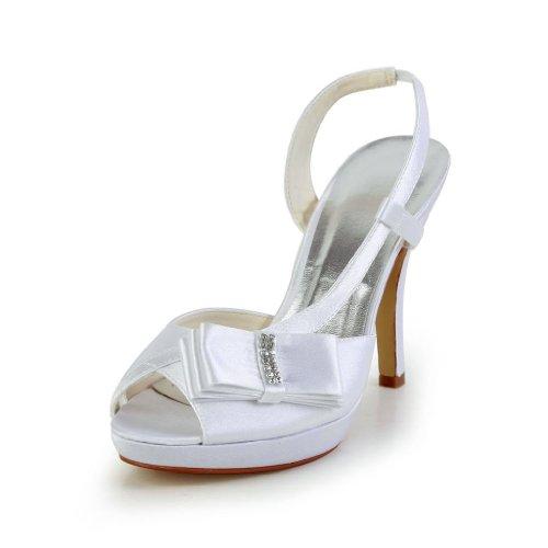 Jia Jia Wedding 37046 chaussures de mariée mariage Escarpins pour femme Blanc