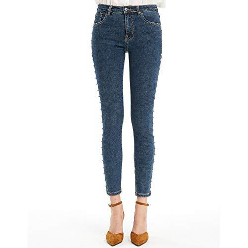 Deep Elastiche M Blue Matite Donna Vita Xl Mvguihzpo Unghie Jeans Jeans XnFw00Uq