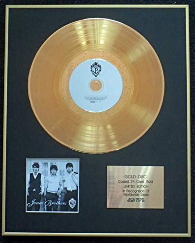 Century Presentations - Jonas Brothers - Exclusive Limited Edition 24 Carat Gold Disc -