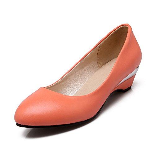 A&N - Sandali con Zeppa donna, arancione (Orange), 35