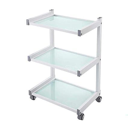Amazon com: LXLA - 3 Shelves Glass Salon Trolley Utility Service